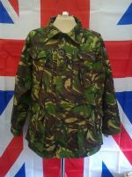 EX MILITARY/ARMY BRITISH GREEN CAMO FIELD WINDPROOF JACKET